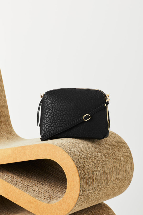 Izar Black Mini Crossbody Bag