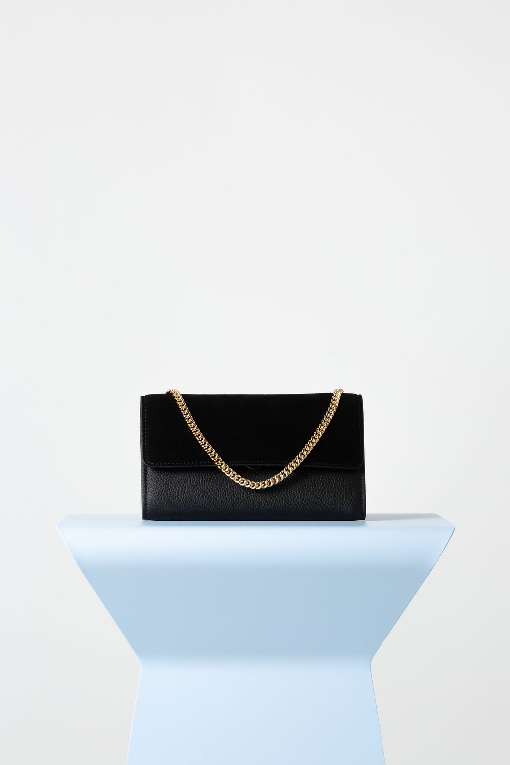 Frankie Evening Bag In Black Suede