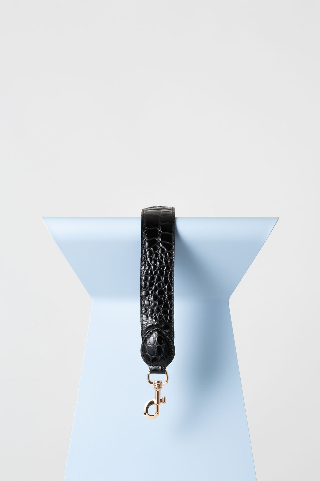 Subra Strap In Black Croc Leather
